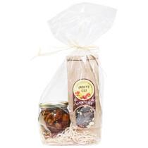 Balíček - med s vlašskými ořechy 220g a čaj Vánoční sen 100g