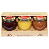 Medové krémy - borůvka, rakytník, skořice